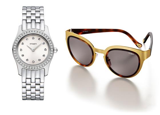 relógio e óculos