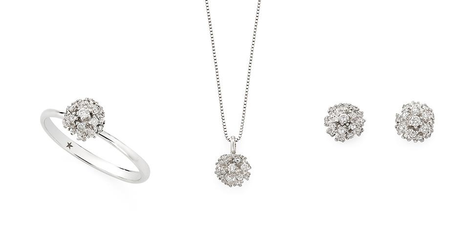 Joias para madrinhas - Buque de diamantes