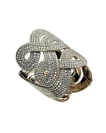 Celtic Dunes - Bracelete de Ouro Nobre e diamantes