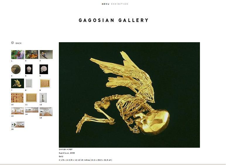 Damien Hirst - Cupid's Lie 2008 - Gagosian Gallery