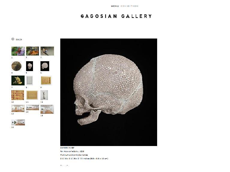 Damien Hirst - For Heaven's Sake 2008 Gagosian Gallery