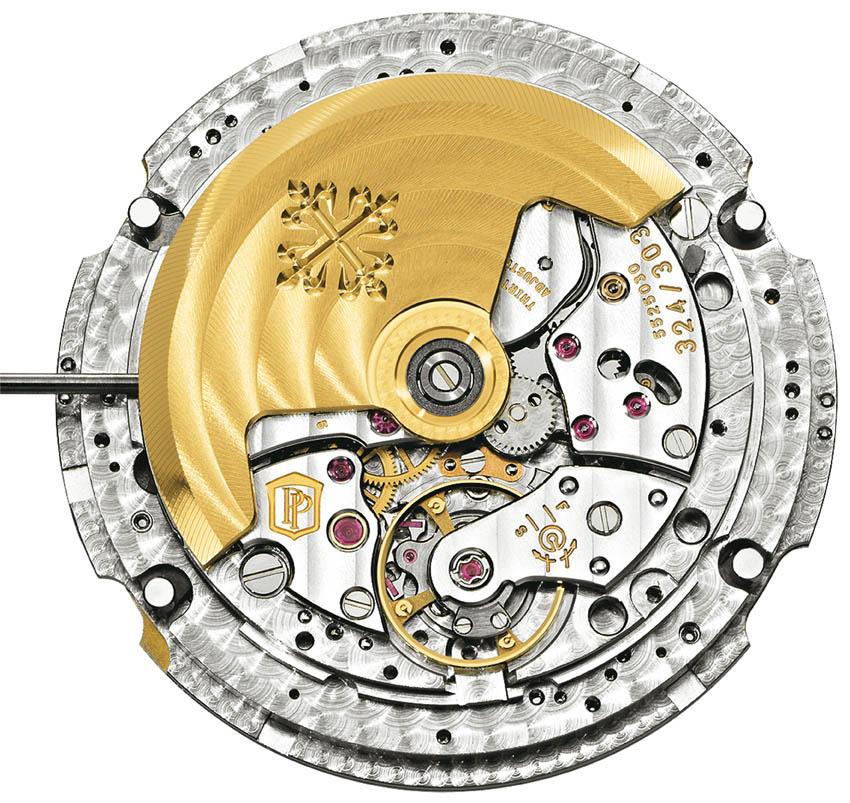 Verso de um dos relógios Patek Philippe e seu impressionante mecanismo