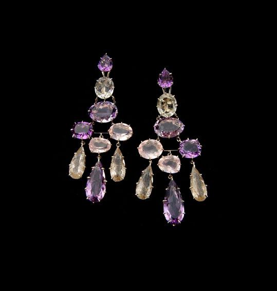 Spring - amethyst earrings
