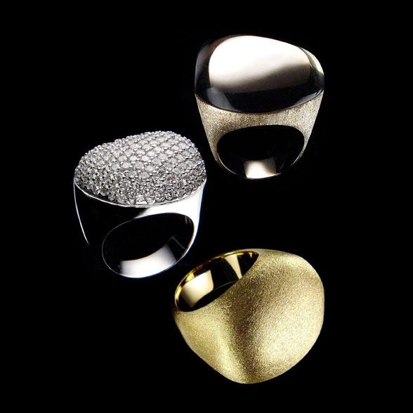 Trio anéis Pedras Roladas copy