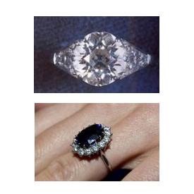 anel de Elizabeth II e de Lady Di - Kate Middleton
