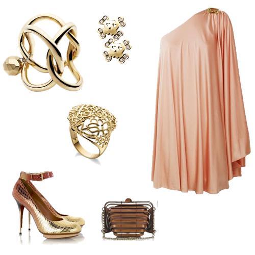 Bracele, brincos e anel: H.Stern; Vestido: Halston Heritage; Sapato: Lavin D grad; Bolsa: Stella Mc Cartney