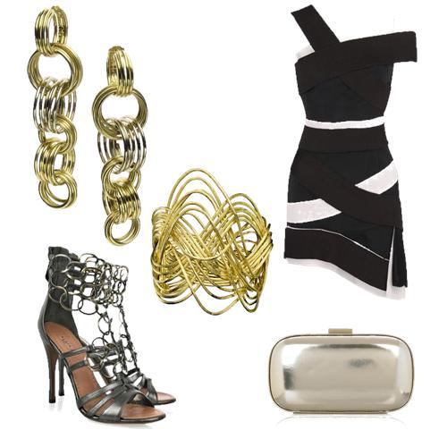 Brincos e Bracelete: H.Stern; Sapato: ALaia; Vestido: Emilio de la Morena Pleated; Bolsa: Anya Hindmarch