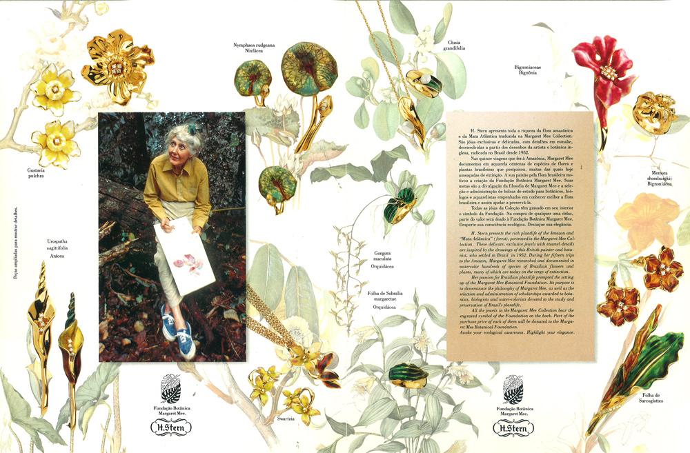 Detalhe do folder da Margaret Mee Collection. Fonte: Acervo H.Stern
